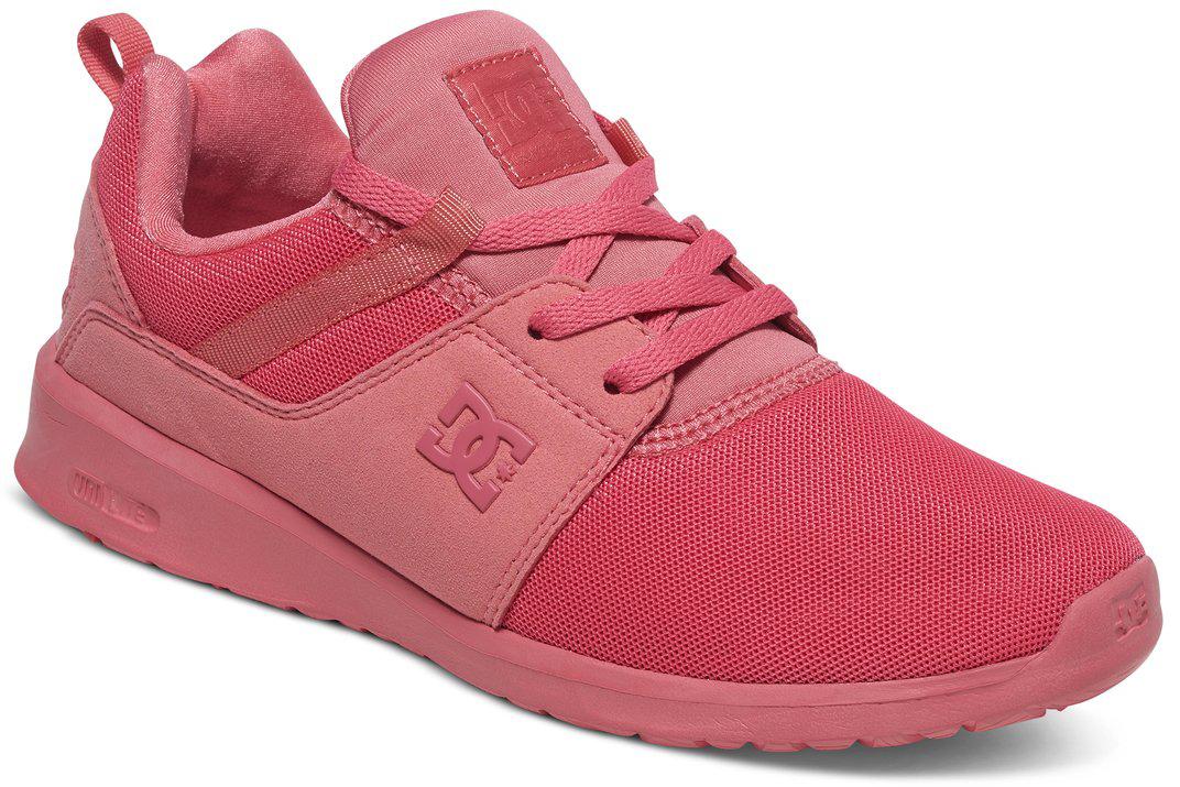 Кроссовки женские DC Shoes Heathrow, цвет: розовый. ADJS700021-DRT. Размер 7,5B (38,5)ADJS700021-DRTКроссовки от DC Shoes выполнены из текстиля. Язычок оформлен фирменной нашивкой. На ноге модель фиксируется с помощью шнурков. Внутренняя поверхность выполнена из текстиля. Подошва изготовлена из высококачественной резины и дополнена протектором, который гарантирует отличное сцепление с любой поверхностью.