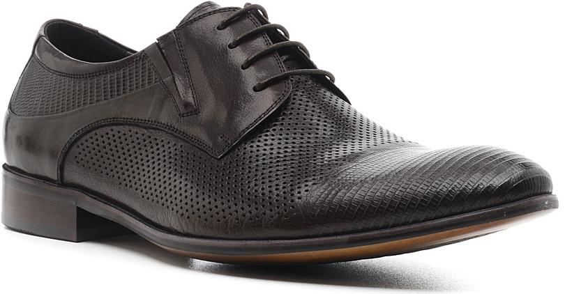Туфли мужские El Tempo, цвет: темно-коричневый. RS1_07-03-A77-C044. Размер 41RS1_07-03-A77-C044_BROWNЭлегантные мужские туфли от El Tempo покорят вас своим удобством. Модель выполнена из высококачественной натуральной кожи и оформлена перфорацией. Резинки, расположенные на подъеме, гарантируют оптимальную посадку обуви на ноге. Шнуровка позволяет прочно зафиксировать изделие. Стелька и подкладка из натуральной кожи позволяют ногам дышать. Рифление на подошве обеспечивает отличное сцепление с различными поверхностями.Стильные туфли прекрасно впишутся в ваш гардероб.