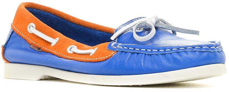 Топсайдеры женские El Tempo, цвет: голубой, оранжевый. PP146_4143. Размер 37PP146_4143_BLUE-ORANGE-2229-1744Модные женские топсайдеры от El Tempo покорят вас с первого взгляда.Модель выполнена из натуральной кожи и украшена на мысе декоративным внешним швом. Боковые стороны оформлены шнурками, пропущенными через металлическую фурнитуру. Подкладка и стелька из натуральной кожи обеспечивают максимальный комфорт. Рифление на подошве гарантирует отличное сцепление с любыми поверхностями. Стильные мокасины отлично подойдут для простой прогулки или для дальней поездки.