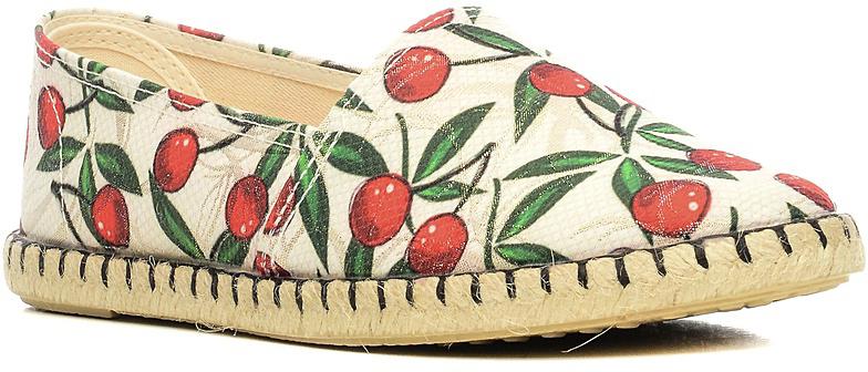 Эспадрильи женские El Tempo, цвет: белый, красный, зеленый. EJP1_80193. Размер 37EJP1_80193_BLANCOТрендовые женские эспадрильи от El Tempo придутся вам по душе. Модель выполнена из плотноготекстиля и оформлена ягодным принтом. Боковая часть подошвы декорирована плетеной джутовой нитью. Подошва с рифлением обеспечивает отличное сцепление с любыми поверхностями. Эффектные эспадрильи покорят вас своим дизайном и удобством!