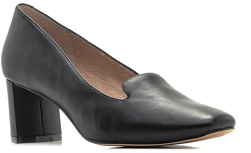 Туфли женские El Tempo, цвет: черный. CU47_60-2-2. Размер 37CU47_60-2-2_BLACKСтильные туфли от El Tempo - незаменимая вещь в гардеробе каждой женщины. Модельвыполнена из натуральной кожи. Верх изделия дополнен небольшими вырезами. Подкладка и стелька, изготовленные из натуральной кожи, обеспечат комфорт и предотвратят натирание. Толстый каблук устойчив. Подошва с рифлениемгарантирует идеальное сцепление с разными поверхностями. Роскошные туфли помогут вамсоздать модный образ.