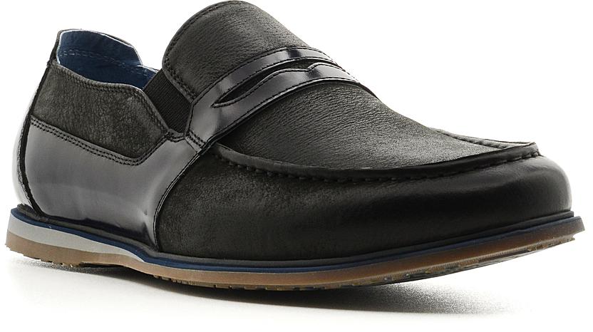 Мокасины мужские El Tempo, цвет: черный. CRP17_1537-5. Размер 42CRP17_1537-5_BLACKСтильные мужские мокасины от El Tempo заинтересуют вас своим дизайном. Модель выполнена из высококачественной натуральной кожи и оформлена на мысе декоративным ремнем с прорезью. Резинки, расположенные на подъеме, гарантируют идеальную посадку изделия на ноге. Мягкая стелька и подкладка из натуральной кожи позволяют ногам дышать. Рифленая подошва обеспечивает идеальное сцепление с любой поверхностью. Удобные мокасины отлично подойдут для прогулок или дальних поездок.