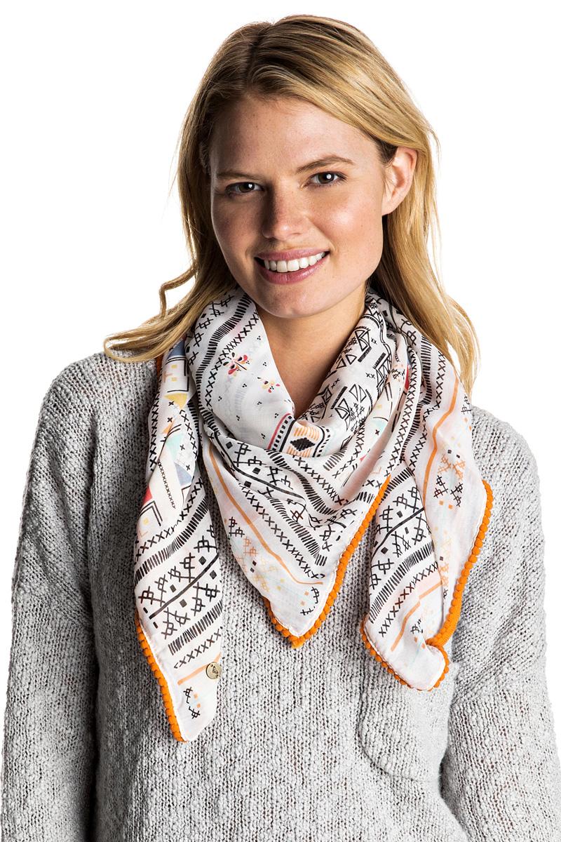 Платок женский Roxy Power Desire, цвет: светло-бежевый. ERJAA03226-WBT6. Размер 100 x 100 смERJAA03226-WBT6Платок Roxy Power Desire, выполненный из полиэстера, идеально дополнит образ современной женщины. Модель оформлена принтом. Классическая квадратная форма позволяет носить платок на шее, украшать им прическу или декорировать сумочку.