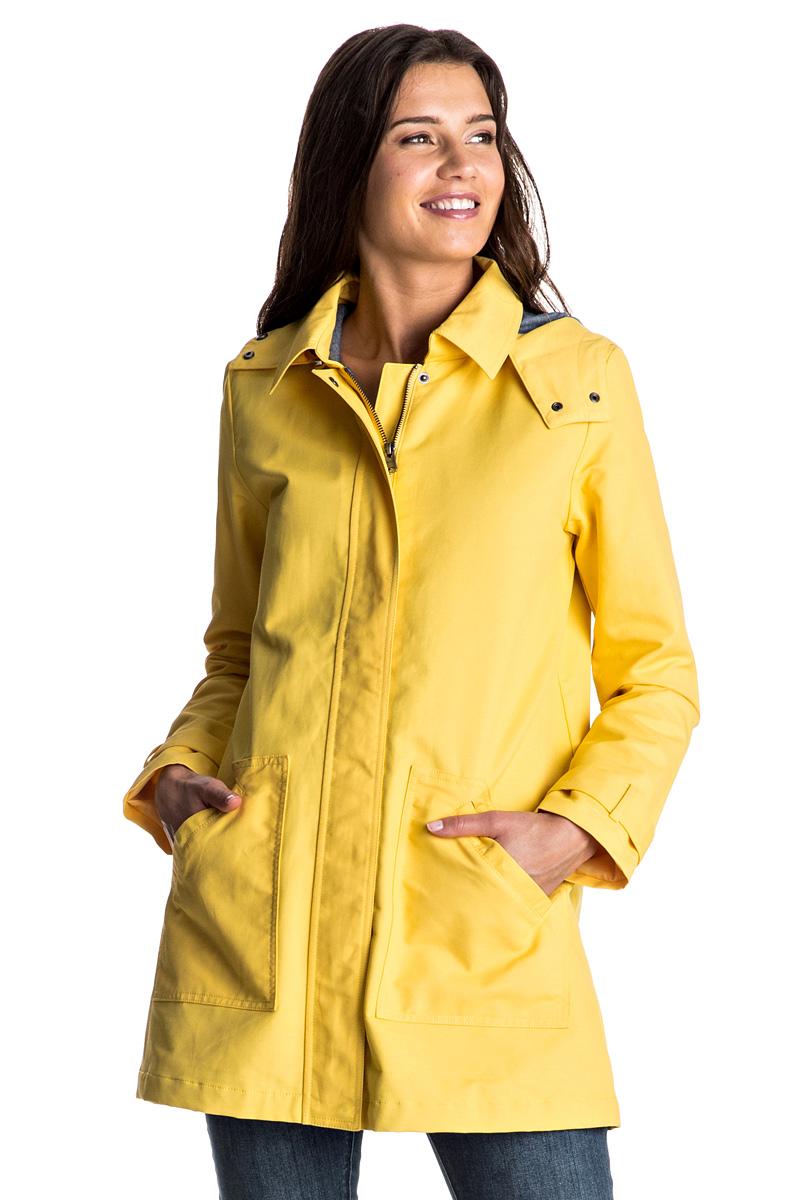 Плащ женский Roxy Gili Peak, цвет: желтый. ERJJK03169-YFL0. Размер 42 (S)ERJJK03169-YFL0Стильный яркий плащ Roxy Gili Peak изготовлен из водоотталкивающей ткани из хлопка и нейлона. Модель прямого кроя со съемным капюшоном застегивается на молнию с ветрозащитной планкой на кнопках. На рукавах предусмотрены манжеты на пуговицах. Спереди изделия имеются два крупных кармана.