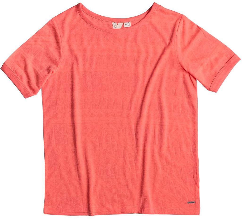 Футболка женская Roxy Clouds, цвет: коралловый. ERJKT03259-MCZ0. Размер 48 (XL)ERJKT03259-MCZ0Женская футболка Roxy Clouds выполнена из полиэстера и хлопка. Модель с круглым вырезом горловины и короткими стандартными рукавами имеет оригинальный дизайн. Прекрасный вариант на каждый день, а также для занятий спортом.