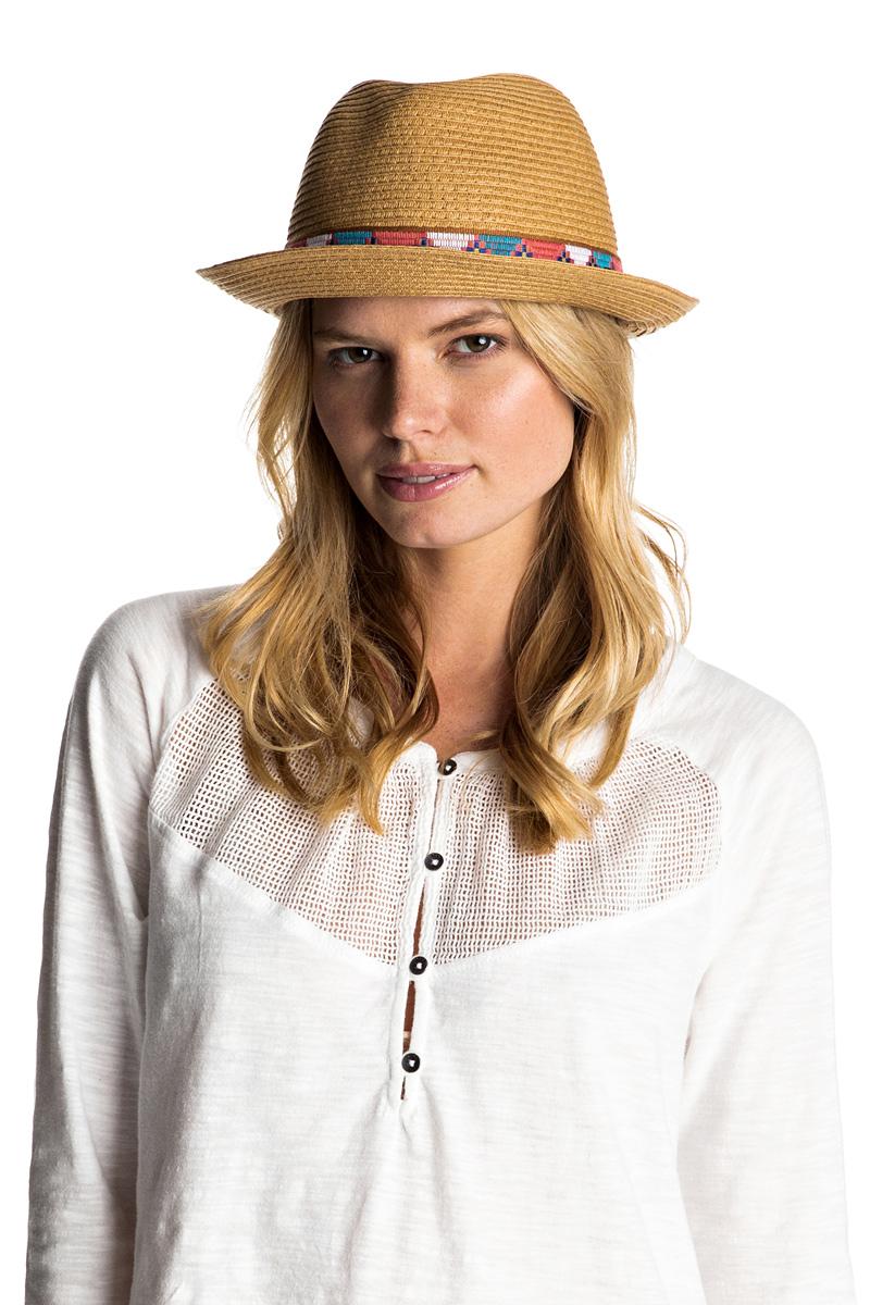 Шляпа женская Roxy Sentimiento, цвет: коричневый. ERJHA03218-YEF0. Размер 54/56 (S/M)