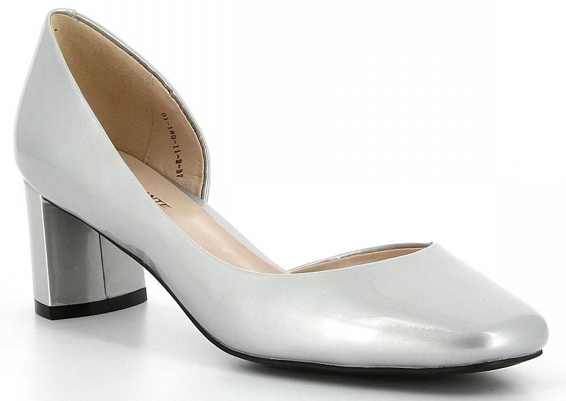 Туфли женские Paolo Conte, цвет: серебряный. 01-180-11-2. Размер 3901-180-11-2Удобные женские туфли Paolo Conte - отличный вариант на каждый день. Верх модели изготовлен из качественной натуральной кожи. Стелька из натуральной кожи гарантирует комфорт и удобство при ходьбе. Подошва выполнена с широким устойчивым каблуком.