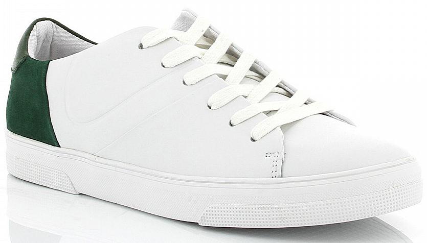 Кеды мужские Paolo Conte, цвет: белый, зеленый. 01-235-02-4. Размер 4501-235-02-4Стильные кеды Paolo Conte изготовлены из натуральной кожи и оформлены цветной вставкой на пятке. Удобная шнуровка прочно зафиксирует модель на ноге. Гибкая подошва обеспечивает идеальное сцепление с разными поверхностями. Кеды прекрасно сидят на ноге и послужат отличным дополнением вашего гардероба!