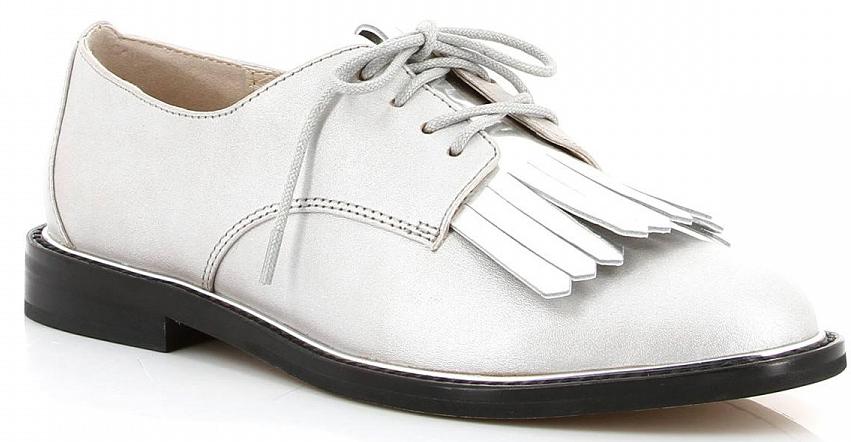 Полуботинки женские Paolo Conte, цвет: серый, серебряный. 01-165-01-2. Размер 3701-165-01-2Модные женские полуботинки от Paolo Conte заинтересуют вас своим дизайном. Модель, выполненная из натуральной кожи, оформлена оригинальной вставкой. Подкладка и мягкая стелька из кожи комфортны при движении. Шнуровка прочно фиксирует обувь на ноге. Стильные полуботинки прекрасно впишутся в ваш гардероб.