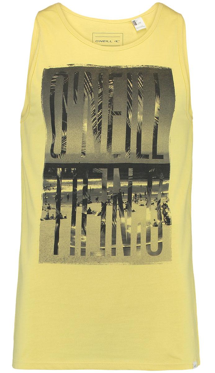 Майка мужская ONeill Lm Reflect Tanktop, цвет: желтый. 7A1903-2045. Размер S (46/48)7A1903-2045Мужская майка ONeill выполнена из 100% хлопка. Модель без рукавов с круглым вырезом. На груди майка дополнена надписями.