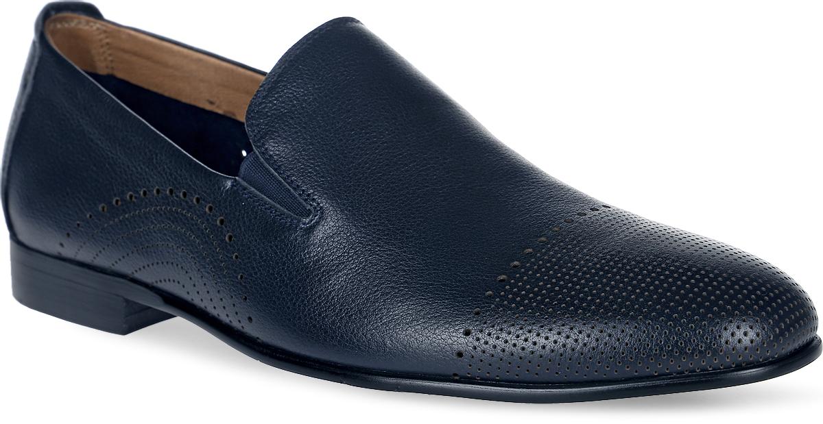 Туфли мужские Francesco Donni, цвет: синий. P81T 646DX-Y13-08G46. Размер 42P81T 646DX-Y13-08G46Мужские туфли выполнены из натуральной кожи. Эластичные вставки на подъеме обеспечат комфортную посадку на ноге. Подкладка и стелька изготовлены из натуральной кожи. Подошва оснащена рифлением.