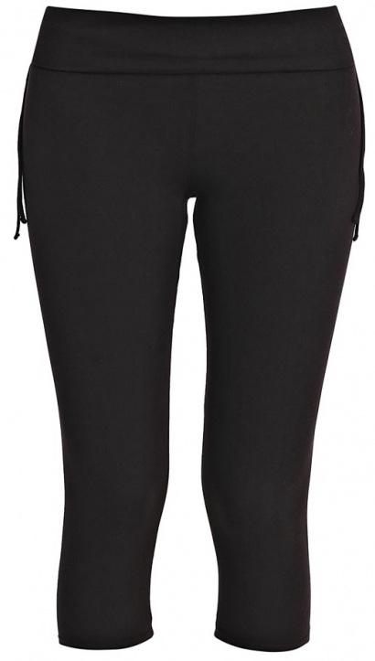 Лосины укороченные женские Sela, цвет: черный. PLGs-115/826-7234. Размер XS (42)PLGs-115/826-7234Стильные укороченные лосины Sela, выполненные из качественного хлопкового материала, станут отличным дополнением к гардеробу. Модель стандартной посадки на талии имеет широкий пояс на мягкой резинке, дополненный с боков шнурками.