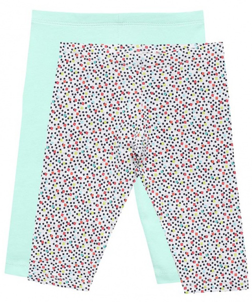 Леггинсы для девочки Sela, цвет: голубой, 2 шт. PLGs-515/156-7253ST-2set. Размер 110PLGs-515/156-7253ST-2setСтильные укороченные леггинсы для девочки Sela станут отличным дополнением к гардеробу юной модницы. Леггинсы выполнены из качественного хлопкового материала и оформлены оригинальным принтом. Модель стандартной посадки на талии имеет пояс на мягкой резинке.Комплект состоит из двух леггинсов.