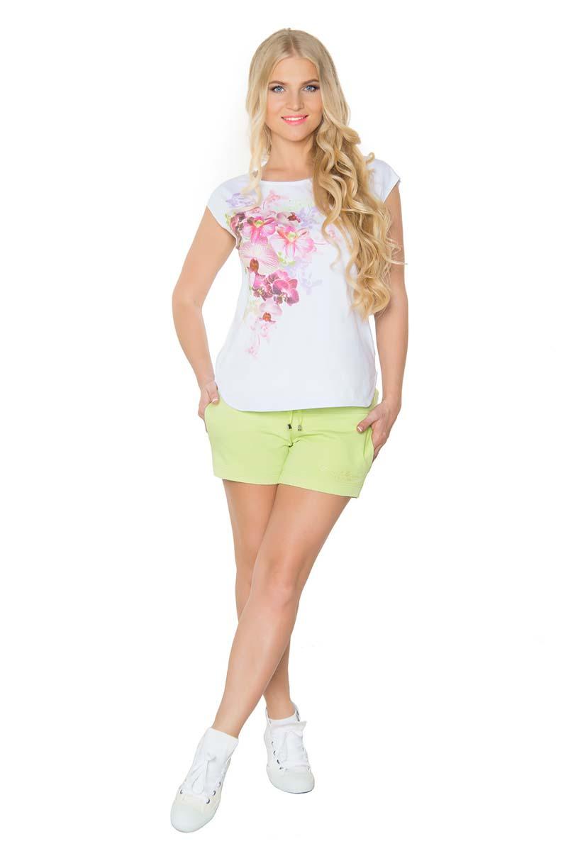 Шорты женские BeGood, цвет: светло-зеленый. SS17-BGUZ-978. Размер 44SS17-BGUZ-978Шорты BeGood изготовлены из хлопка и эластана. Модель на завязках дополнена боковыми карманами.