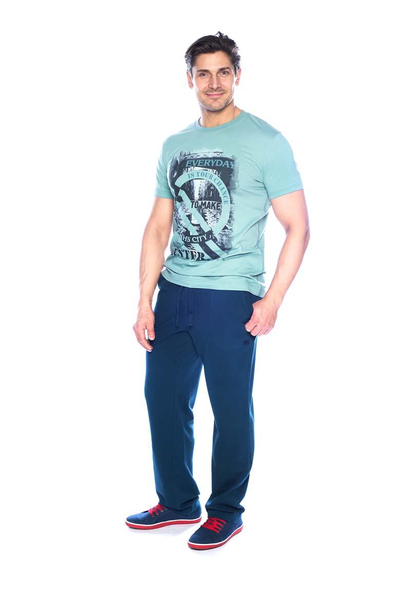 Брюки спортивные мужские BeGood, цвет: синий. SS17-BGUZ-003. Размер 56SS17-BGUZ-003Брюки спортивные BeGood изготовлены из хлопка. Модель на завязках дополнена боковыми карманами.