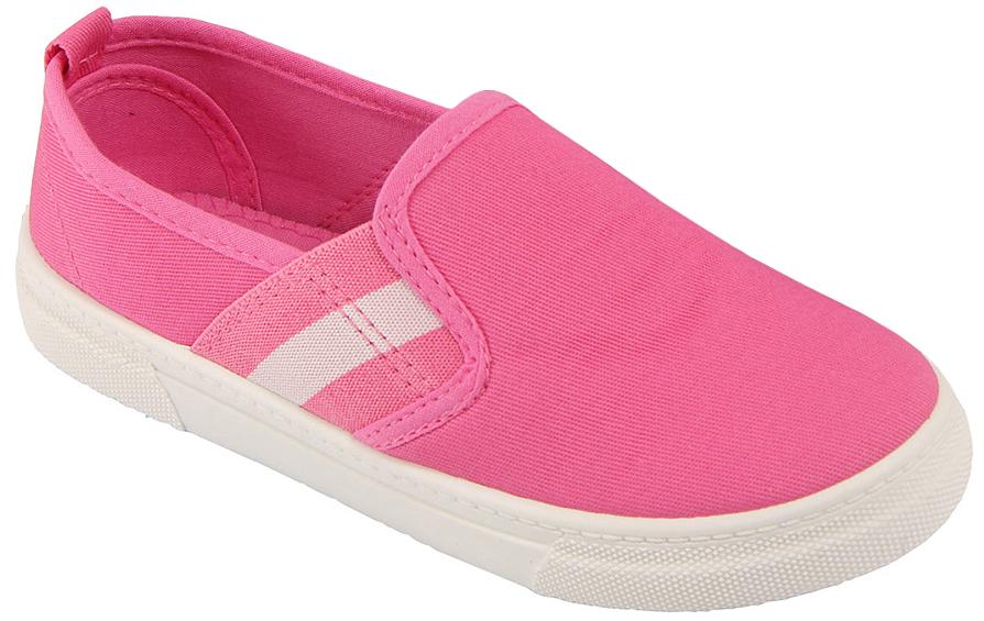 Кеды для девочки In Step, цвет: розовый. A22-4. Размер 31A22-4Стильные детские кеды от In Step выполнены из высококачественного текстиля. Подошва из резины устойчива к изломам. На подъеме модель дополнена эластичными вставками для удобства надевания.