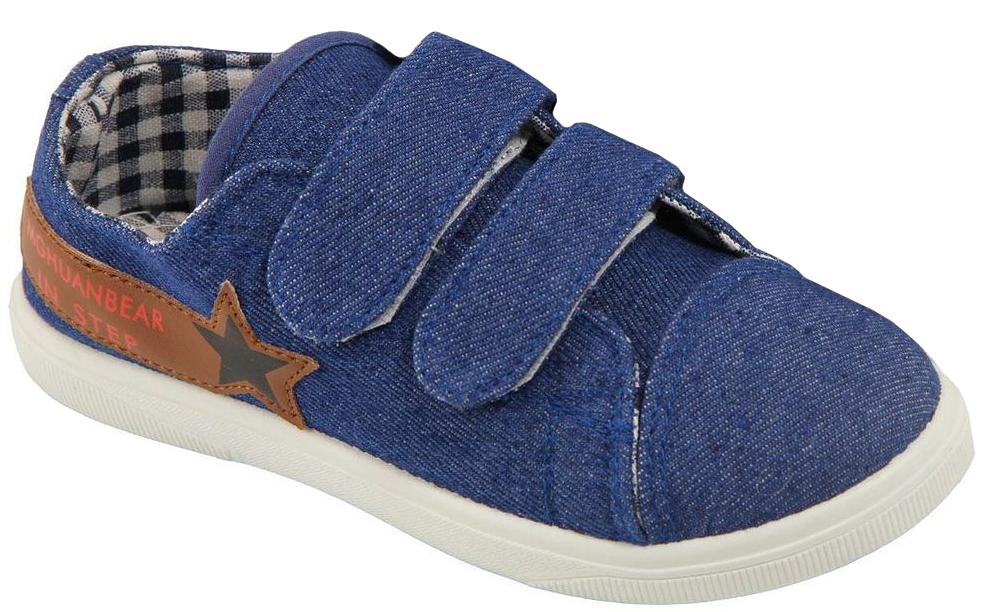 Кеды для мальчика In Step, цвет: синий. 192-1-2. Размер 35192-1-2Детские кеды для мальчика от In Step изготовлены из высококачественного текстиля. Модель надежно фиксируется на ноге при помощи застежек на липучках. Сплошная резиновая подошва обеспечивает равномерное распределение нагрузки по всей поверхности стопы.