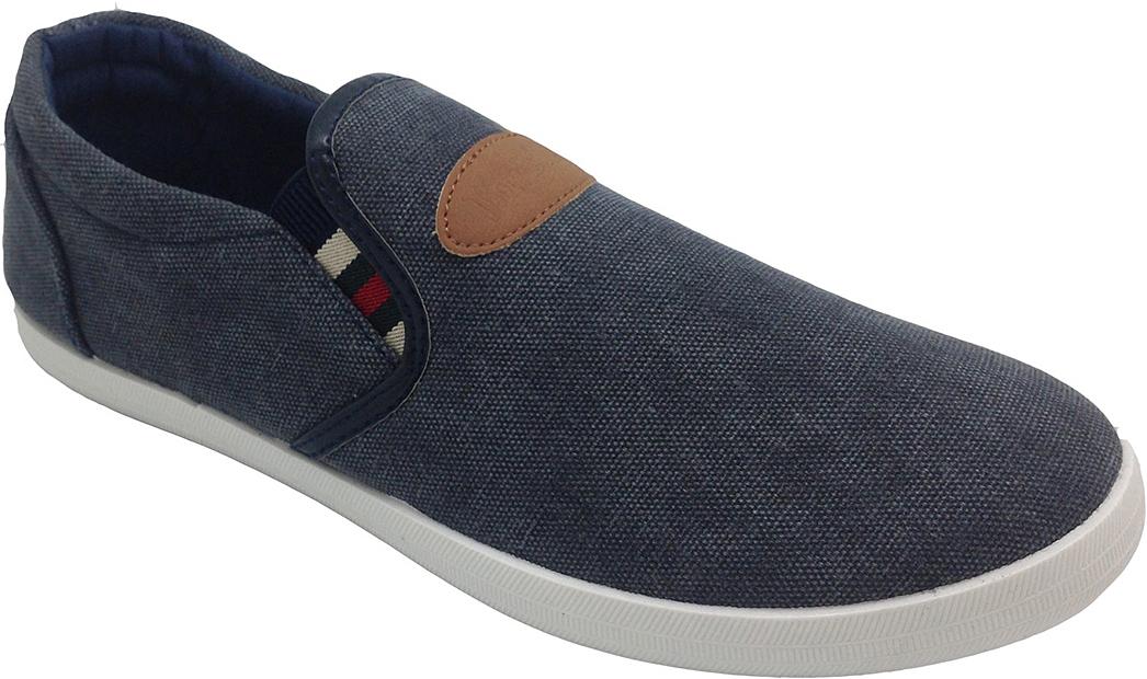 Слипоны мужские In Step, цвет: темно-синийй. JT6165. Размер 41JT6165Стильные мужские слипоны от In Step выполнены из высококачественного текстиля. Подошва из резины устойчива к изломам. На подъеме модель дополнена эластичными вставками для удобства надевания. Аккуратно смотрятся на ноге, комфортно носятся.