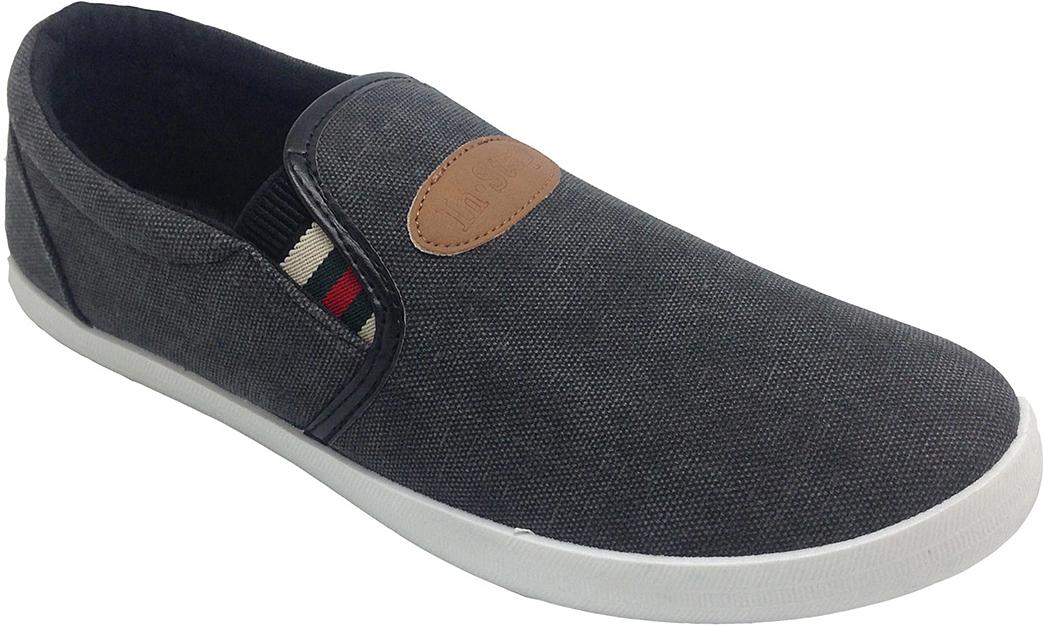 Слипоны мужские In Step, цвет: черный. JT6165. Размер 42JT6165Стильные мужские слипоны от In Step выполнены из высококачественного текстиля. Подошва из резины устойчива к изломам. На подъеме модель дополнена эластичными вставками для удобства надевания. Аккуратно смотрятся на ноге, комфортно носятся.