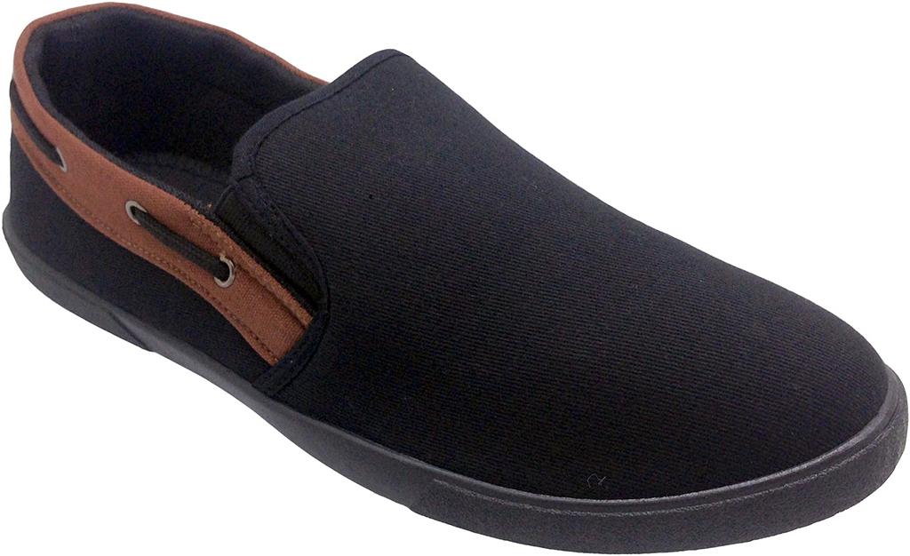 Слипоны мужские In Step, цвет: черный. JT7371A. Размер 40JT7371AСтильные мужские слипоны от In Step выполнены из высококачественного текстиля. Подошва из резины устойчива к изломам. На подъеме модель дополнена эластичными вставками для удобства надевания. Аккуратно смотрятся на ноге, комфортно носятся.