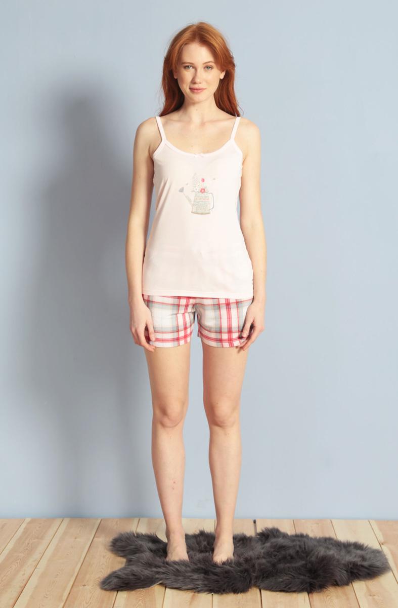 Домашний комплект женский Kezokino, цвет: светло-розовый. 609095 1170. Размер M (46)609095 1170Красивый комплект, выполненный из 100% вискозы, состоит из майки и коротких шорт приятной расцветки. Отличный вариант для дома и отдыха на каждый день.