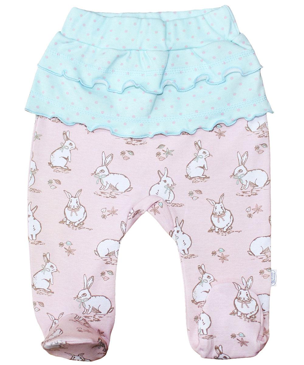 Ползунки для девочки Веселый малыш Лунный зайчик, цвет: розовый. 37320/лз-розовый. Размер 6837320Ползунки для девочки, подойдут и для домашнего использования, и для прогулок. Модель из мягкой натуральной ткани, не вызывающей раздражений. Широкие резинки на поясе не сдавливают живот ребенка.