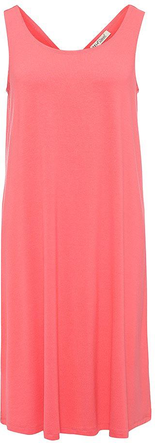 Платье Sela, цвет: ярко-розовый. Dksl-317/1153-7214. Размер L (48)Dksl-317/1153-7214Оригинальное женское платье-сарафан Sela выполнено из качественного трикотажа. Модель А-силуэта с круглым вырезом горловины и оригинальной спинкой подойдет для прогулок и дружеских встреч и станет отличным дополнением гардероба в летний период. Мягкая ткань на основе вискозы и эластана комфортна и приятна на ощупь и хорошо тянется.
