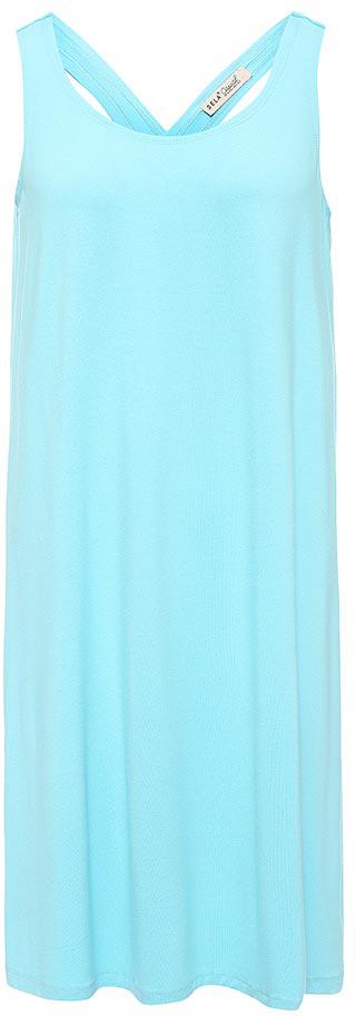 Платье Sela, цвет: светлый аквамарин. Dksl-317/1153-7214. Размер M (46)Dksl-317/1153-7214Оригинальное женское платье-сарафан Sela выполнено из качественного трикотажа. Модель А-силуэта с круглым вырезом горловины и оригинальной спинкой подойдет для прогулок и дружеских встреч и станет отличным дополнением гардероба в летний период. Мягкая ткань на основе вискозы и эластана комфортна и приятна на ощупь и хорошо тянется.