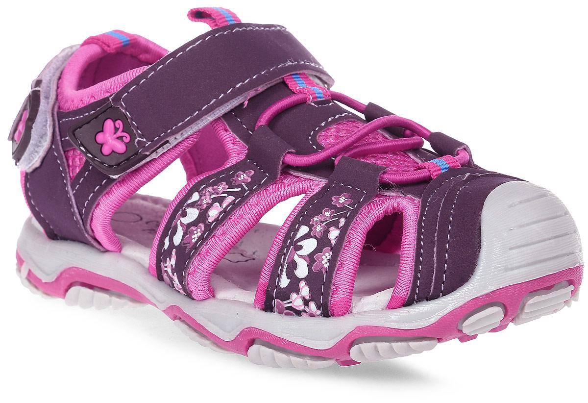 Сандалии для девочки Счастливый ребенок, цвет: фиолетовый. YT134-1-2-3. Размер 28YT134-1-2-3Сандалии для девочки Счастливый ребенок выполнены из искусственной кожи. На заднике и на подъеме модель дополнена ремешками на липучках. Подъем оформлен эластичной шнуровкой. Внутренняя поверхность и стелька изготовлены из натуральной кожи. Подошва из полимерного термопластичного материала оснащена рифлением.