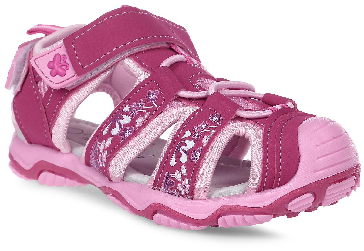 Сандалии для девочки Счастливый ребенок, цвет: розовый. YT134-1-2-3. Размер 30YT134-1-2-3Сандалии для девочки Счастливый ребенок выполнены из искусственной кожи. На заднике и на подъеме модель дополнена ремешками на липучках. Подъем оформлен эластичной шнуровкой. Внутренняя поверхность и стелька изготовлены из натуральной кожи. Подошва из полимерного термопластичного материала оснащена рифлением.