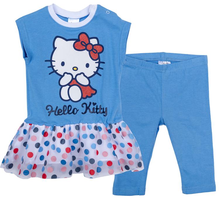 Комплект для девочки PlayToday: платье, бриджи, цвет: голубой, белый, розовый, синий. 978007. Размер 74978007Комплект из платья и бридж прекрасно подойдет как для домашнего использования, так и для прогулок на свежем воздухе. Мягкий, приятный к телу, материал не сковывает движений. Яркий стильный принт является достойным украшением данного изделия. Бриджи на мягкой удобной резинке.