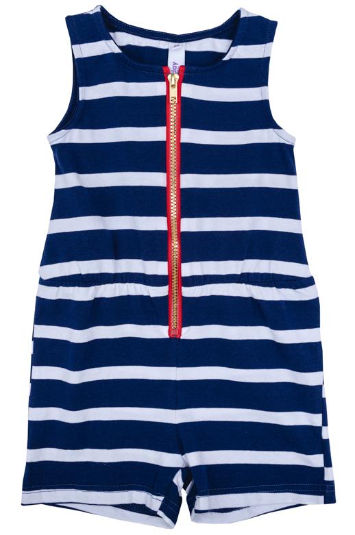 Комбинезон для девочки PlayToday, цвет: синий, белый, красный. 278021. Размер 74278021Комбинезон PlayToday идеально подойдет вашему ребенку.Комбинезон с круглым вырезом горловины застегивается на молнию.