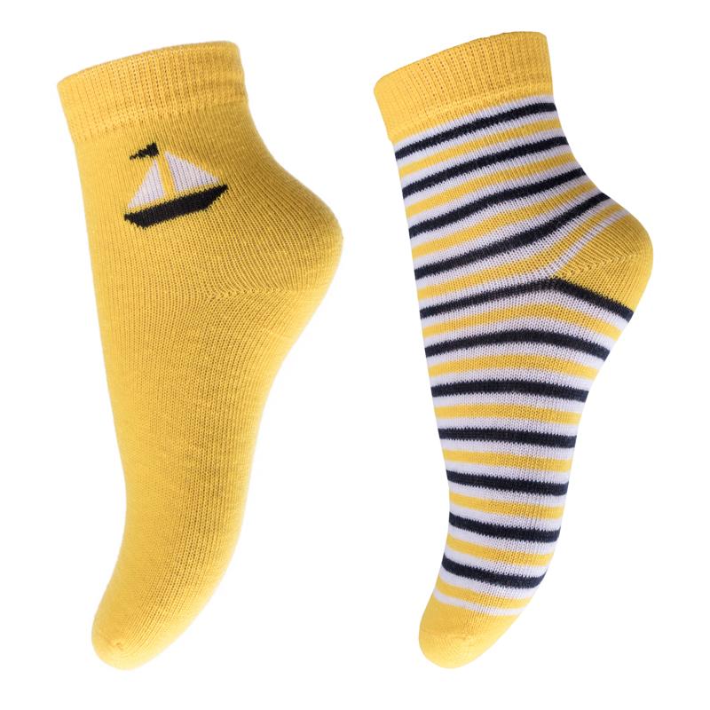 Носки для мальчика PlayToday, цвет: желтый, черный, белый. 277024. Размер 12277024Носки PlayToday, изготовленные из высококачественного материала, прекрасно подойдут вашему ребенку. Эластичная резинка плотно облегает ножку ребенка, не сдавливая ее. Усиленная пятка и мысок обеспечивают надежность и долговечность.