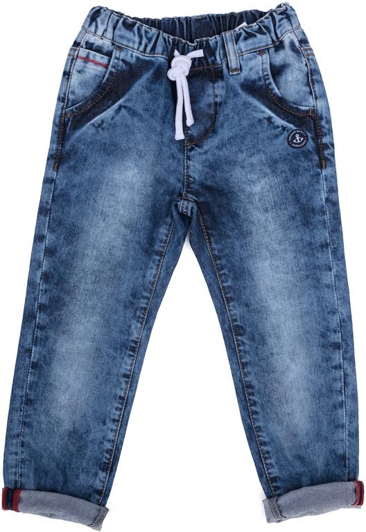 Брюки джинсовые для мальчика PlayToday, цвет: синий. 271006. Размер 116271006Брюки джинсовые для мальчика PlayToday выполнены из натурального хлопка. Модель на талии дополнена затягивающимся шнурком.