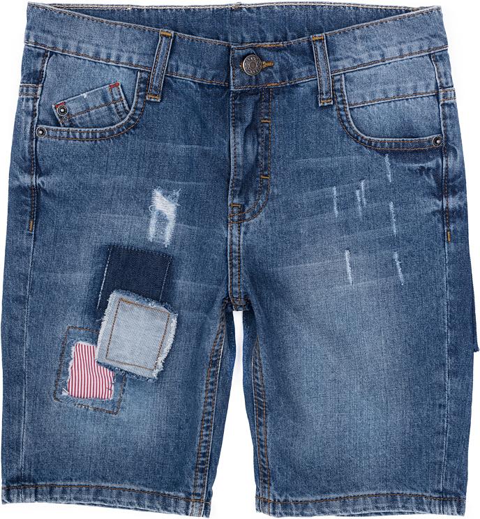 Шорты для мальчика Scool, цвет: синий. 273008. Размер 140, 10 лет273008Джинсовые шорты для мальчика Scool изготовлены из натурального хлопка. Модель застегивается на металлическую пуговицу и имеет ширинку на застежке-молнии, а также шлевки для ремня. Спереди расположены два втачных кармана и один маленький накладной кармашек, сзади - два накладных. Изделие оформлено эффектом потертости и декоративными заплатками.