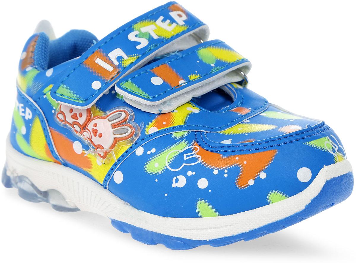 Кроссовки детские In Step, цвет: голубой. ML002. Размер 23ML002Детские кроссовки от In Step выполнены из искусственной кожи. Ремешки на липучке гарантируют надежную фиксацию обуви на ноге. Внутренняя поверхность и стелька из текстиля комфортны при движении. Рельефная подошва изготовлена из резины.
