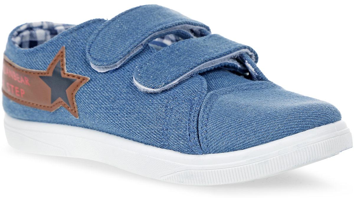 Кеды для мальчика In Step, цвет: синий. 192-3-4. Размер 31192-3-4Детские кеды для мальчика от In Step изготовлены из высококачественного текстиля. Модель надежно фиксируется на ноге при помощи застежек на липучках. Сплошная резиновая подошва обеспечивает равномерное распределение нагрузки по всей поверхности стопы.