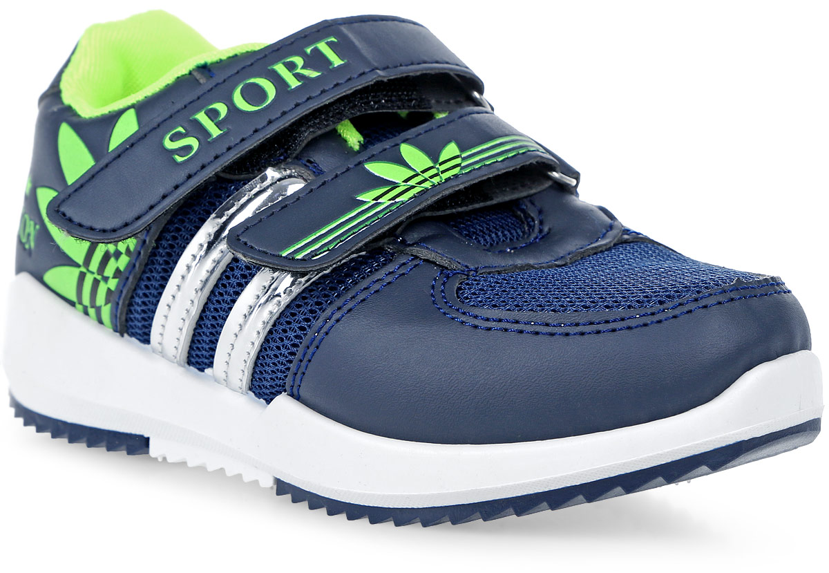 Кроссовки для мальчика In Step, цвет: темно-синий. HF030-3. Размер 29HF030-3Детские кроссовки от In Step выполнены из комбинации дышащего текстиля и искусственной кожи. Ремешки на липучке гарантируют надежную фиксацию обуви на ноге. Внутренняя поверхность и стелька из текстиля комфортны при движении. Рельефная подошва изготовлена из резины.
