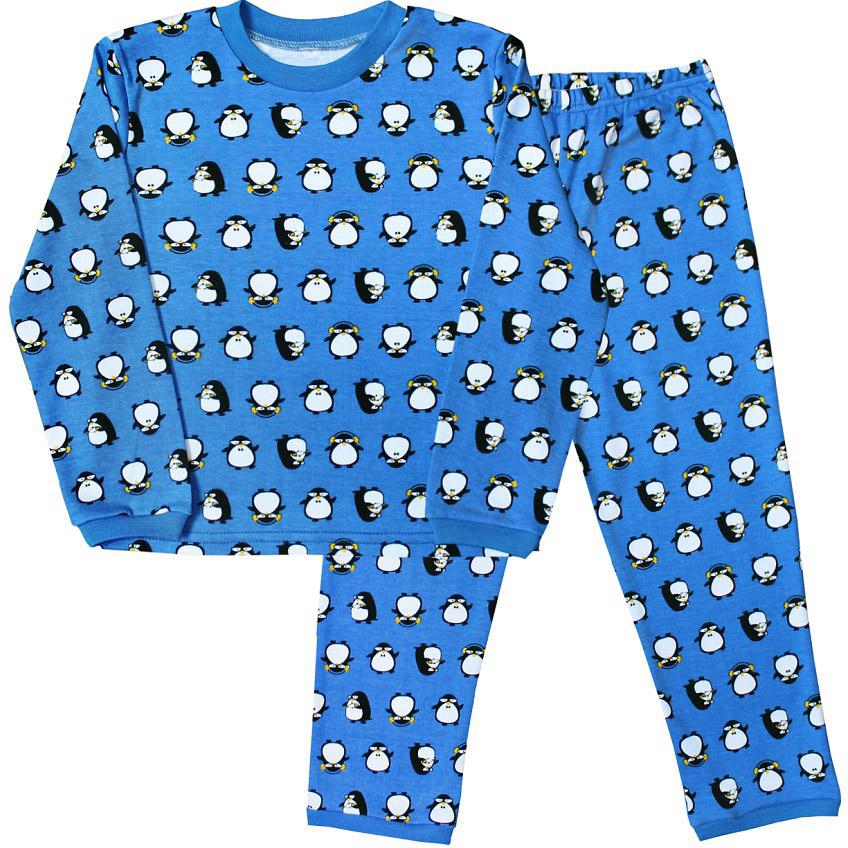 Пижама для мальчика Веселый малыш, цвет: синий. 9315-J (1). Размер 1109315Пижама для мальчика Веселый малыш выполнена из качественного материала и состоит из лонгслива и брюк. Лонгслив с длинными рукавами и круглым вырезом горловины. Брюки понизу дополнены манжетами.