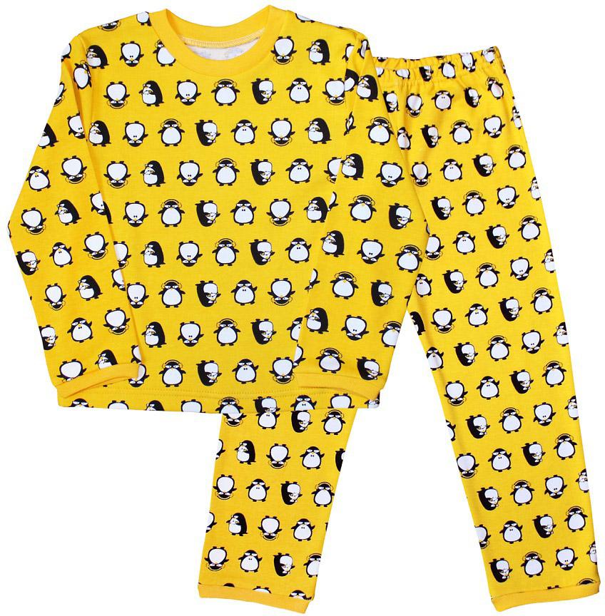 Пижама для мальчика Веселый малыш, цвет: желтый. 9315-I (1) желтый. Размер 1049315Пижама для мальчика Веселый малыш выполнена из качественного материала и состоит из лонгслива и брюк. Лонгслив с длинными рукавами и круглым вырезом горловины. Брюки понизу дополнены манжетами.