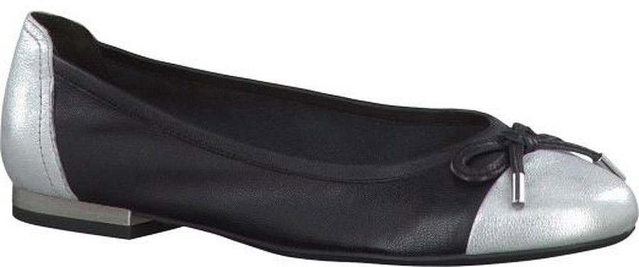 Балетки женские Caprice, цвет: черный. 9-9-22105-28. Размер 409-9-22105-28-011/221Удобные женские балетки, выполненные из натуральной комбинированной кожи, покорят вас с первого взгляда. Внутренняя поверхность и стелька, также выполненные из натуральной кожи, обеспечат комфорт ногам. Подошва оснащена рифлением.
