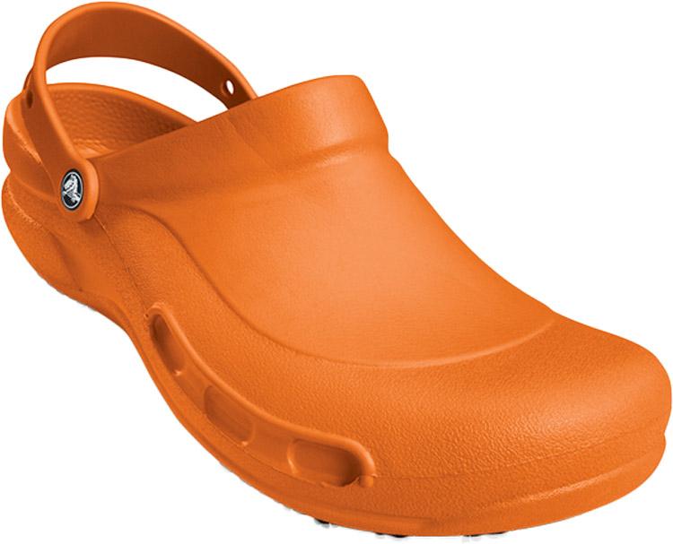 Сабо Crocs Bistro Batali Edition, цвет: оранжевый. 10100-810. Размер 11 (44)10100-810Сабо Crocs Bistro Batali Edition придутся вам по душе. Рельефная поверхность верхней части подошвы комфортна при движении. Рифленое основание подошвы гарантирует идеальное сцепление с любой поверхностью. Такие сабо - отличное решение для каждодневного использования!