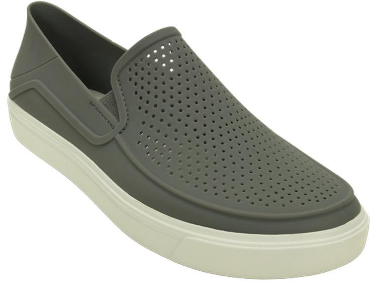 Слипоны мужские Crocs CitiLane Roka Slip-on, цвет: серый. 202363-06X. Размер 10 (43)202363-06XУдобные и стильные слипоны от Crocs выполнены из пластика. Благодаряэластичным резинкам на подъеме слипоны легко надевать.