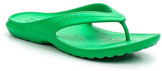 Сланцы Crocs Classic Flip, цвет: зеленый. 202635-3E8. Размер 11 (43/44)202635-3E8Стильные сланцы от Crocs придутся вам по душе. Рифление на верхней поверхности подошвы предотвращает выскальзывание ноги. Рельефное основание подошвы обеспечивает уверенное сцепление с любой поверхностью. Удобные сланцы прекрасно подойдут для похода в бассейн или на пляж.