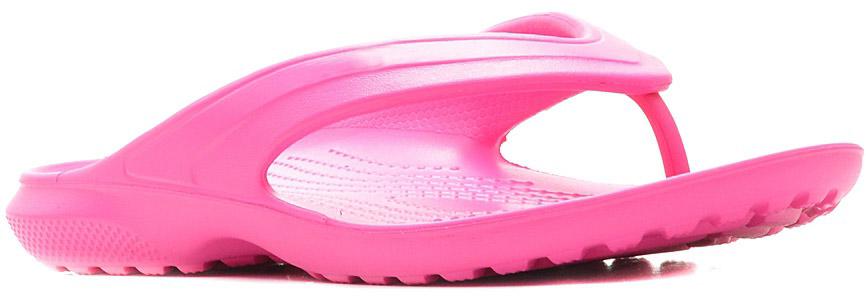 Сланцы Crocs Classic Flip, цвет: розовый. 202635-6L0. Размер 4-6 (36/37)202635-6L0Стильные сланцы от Crocs придутся вам по душе. Рифление на верхней поверхности подошвы предотвращает выскальзывание ноги. Рельефное основание подошвы обеспечивает уверенное сцепление с любой поверхностью. Удобные сланцы прекрасно подойдут для похода в бассейн или на пляж.