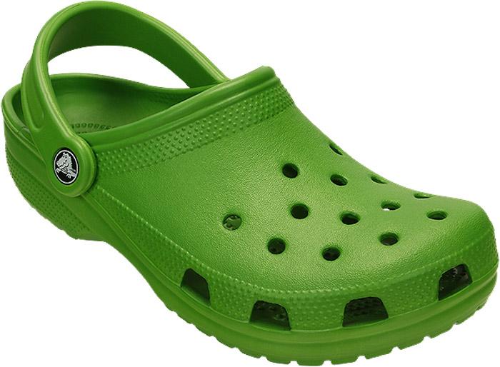 Сабо Crocs Classic, цвет: зеленый. 10001-373. Размер 7-9 (39/40)10001-373Сабо Crocs придутся вам по душе. Рельефная поверхность верхней части подошвы комфортна при движении. Рифленое основание подошвы гарантирует идеальное сцепление с любой поверхностью. Такие сабо - отличное решение для каждодневного использования!
