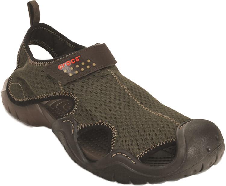 Сандалии мужские Crocs Swiftwater Sandal, цвет: коричневый. 15041-22Z. Размер 8 (41)15041-22ZСандалии от Crocs выполнены из синтетики. Рельефная поверхность верхней части подошвы комфортна при движении. Рифленое основание подошвы гарантирует идеальное сцепление с любой поверхностью. Такие сандалии не только прекрасно смотрятся на ноге, они очень удобны и долговечны.