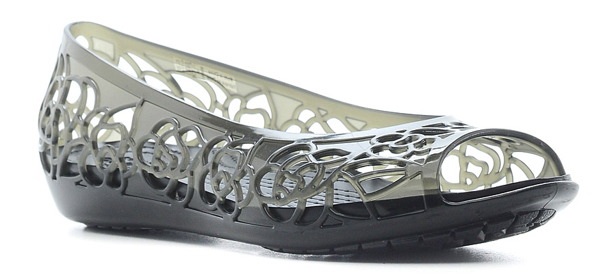 Балетки женские Crocs Crocs Isabella Jelly Flat, цвет: черный. 203285-001. Размер 5 (35)203285-001Балетки Crocs выполнены из мягкой резины с декоративной перфорацией. Подошва из запатентованного материала Croslite.