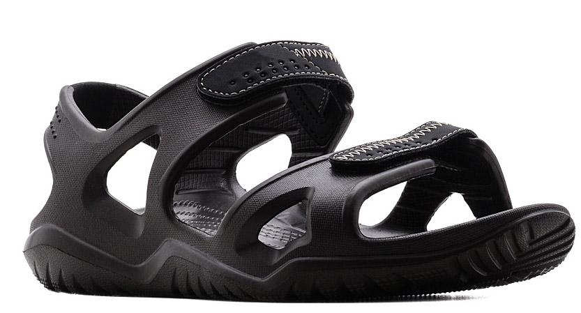 Сандалии мужские Crocs Swiftwater River Sandal, цвет: коричневый. 203965-23K. Размер 11 (43/44)203965-23KСандалии от Crocs выполнены из полимера. Рельефная поверхность верхней части подошвы комфортна при движении. Рифленое основание подошвы гарантирует идеальное сцепление с любой поверхностью. Такие сандалии не только прекрасно смотрятся на ноге, они очень удобны и долговечны.