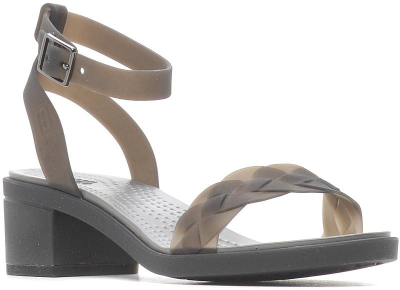 Босоножки женские Crocs Crocs Isabella Block Heel, цвет: черный. 204002-02S. Размер 8 (38)204002-02SБосоножки Crocs выполнены из искусственного материала. Полностью литая модель из легкого материала Croslite™ для максимальной поддержки и комфорта. Подошва из материала Croslite для комфорта и легкой ходьбы, застежка на пряжку вокруг лодыжки.